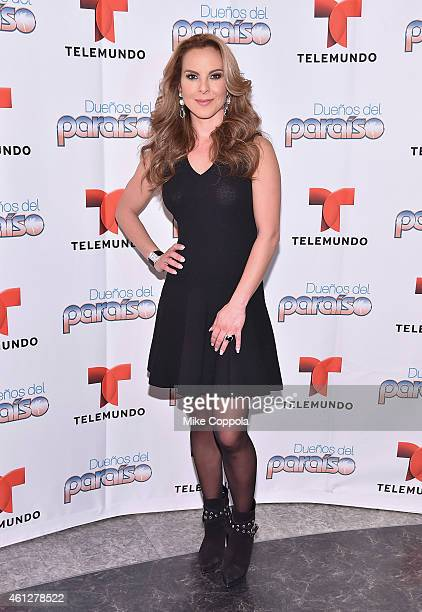 Kate del Castillo poses for a picture at the NBC Experience Store on January 10 2015 in New York City