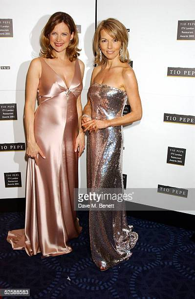Kate Derham and Mary Nightingale arrive at The Tio Pepe/Carlton London Restaurant Awards 2005 at the Grosvenor House Hotel on April 4 2005 in...