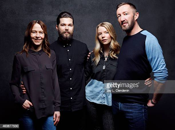 Kate Dickie Robert Eggers Anya Taylor Joy and Ralph Ineson from 'The Witch' pose for a portrait for the Los Angeles Times at the 2015 Sundance Film...