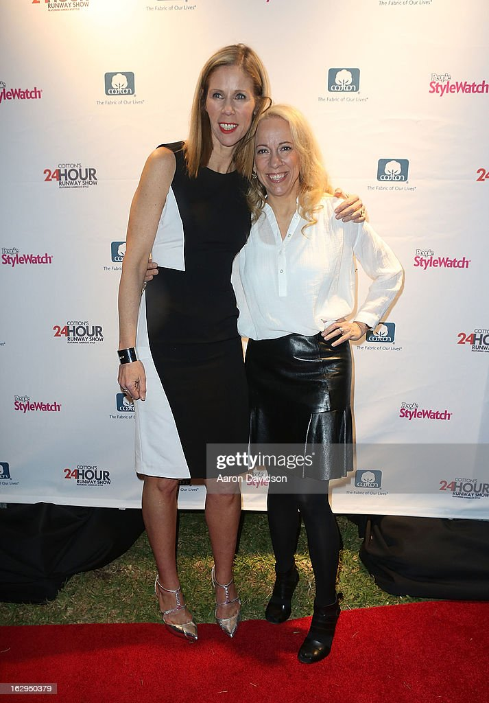 Kate Dimmock and Susan Kaufman attend Cotton's 24 Hour Runway Show On South Beach on March 1, 2013 in Miami Beach, Florida.