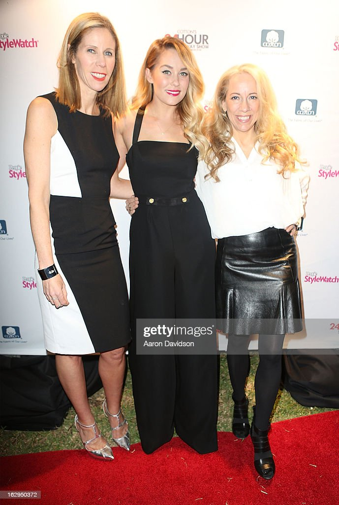 Kate Dimmock,<a gi-track='captionPersonalityLinkClicked' href=/galleries/search?phrase=Lauren+Conrad&family=editorial&specificpeople=537620 ng-click='$event.stopPropagation()'>Lauren Conrad</a> and Susan Kaufman attends Cotton's 24 Hour Runway Show On South Beach on March 1, 2013 in Miami Beach, Florida.