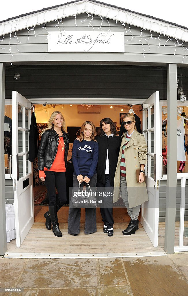 Kate Driver, <a gi-track='captionPersonalityLinkClicked' href=/galleries/search?phrase=Jeanne+Marine&family=editorial&specificpeople=159392 ng-click='$event.stopPropagation()'>Jeanne Marine</a>, Bella Freud and <a gi-track='captionPersonalityLinkClicked' href=/galleries/search?phrase=Laura+Bailey+-+Model&family=editorial&specificpeople=202040 ng-click='$event.stopPropagation()'>Laura Bailey</a> attend the launch of the Bella Freud pop-up boutique at Bicester Village on November 15, 2012 in Bicester, England.