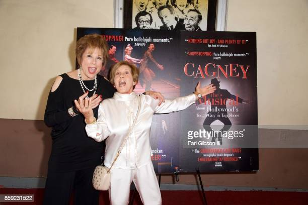Kate Edelman Johnson and Riki Kane Larimer attend the opening of 'Cagney' at El Portal Theatre on October 8 2017 in North Hollywood California