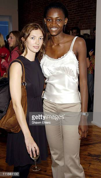 Kate Elson and Oluchi during Olympus Fashion Week Spring 2005 Ann Taylor Celebrates 50th Anniversary With Vogue at Chelsea Art Museum in New York...