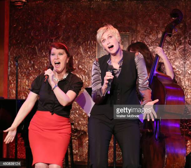 Kate Flannery and Jane Lynch in rehearsal at 54 Below on June 18 2014 in New York City
