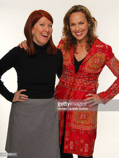 Kate Flannery and Melora Hardin during Access Hollywood 'Stuff You Must' Lounge Day 1 Portraits at Sofitel LA in Los Angeles California United States