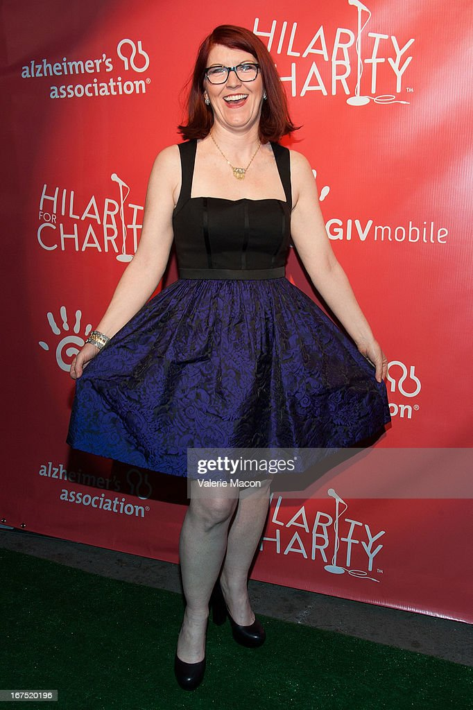 Kate Flannery arrives at the 2nd Annual Hilarity for Charity Event at Avalon on April 25, 2013 in Hollywood, California.