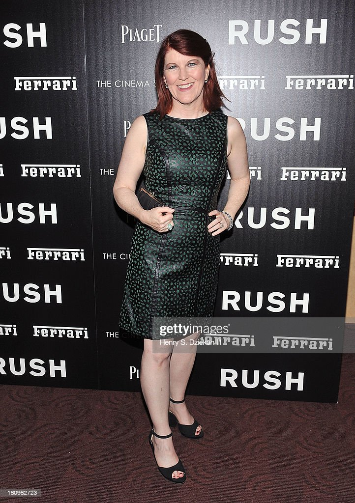 <a gi-track='captionPersonalityLinkClicked' href=/galleries/search?phrase=Kate+Flannery&family=editorial&specificpeople=580714 ng-click='$event.stopPropagation()'>Kate Flannery</a> attends the Ferrari & The Cinema Society screening of 'Rush' at Chelsea Clearview Cinema on September 18, 2013 in New York City.