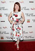 Kate Flannery attends 'The Last Five Years' Los Angeles premiere at ArcLight Hollywood on February 11 2015 in Hollywood California