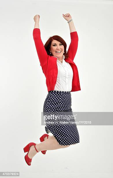 Kate Flannery from 'Tenured' appears at the 2015 Tribeca Film Festival Getty Images Studio on April 18 2015 in New York City