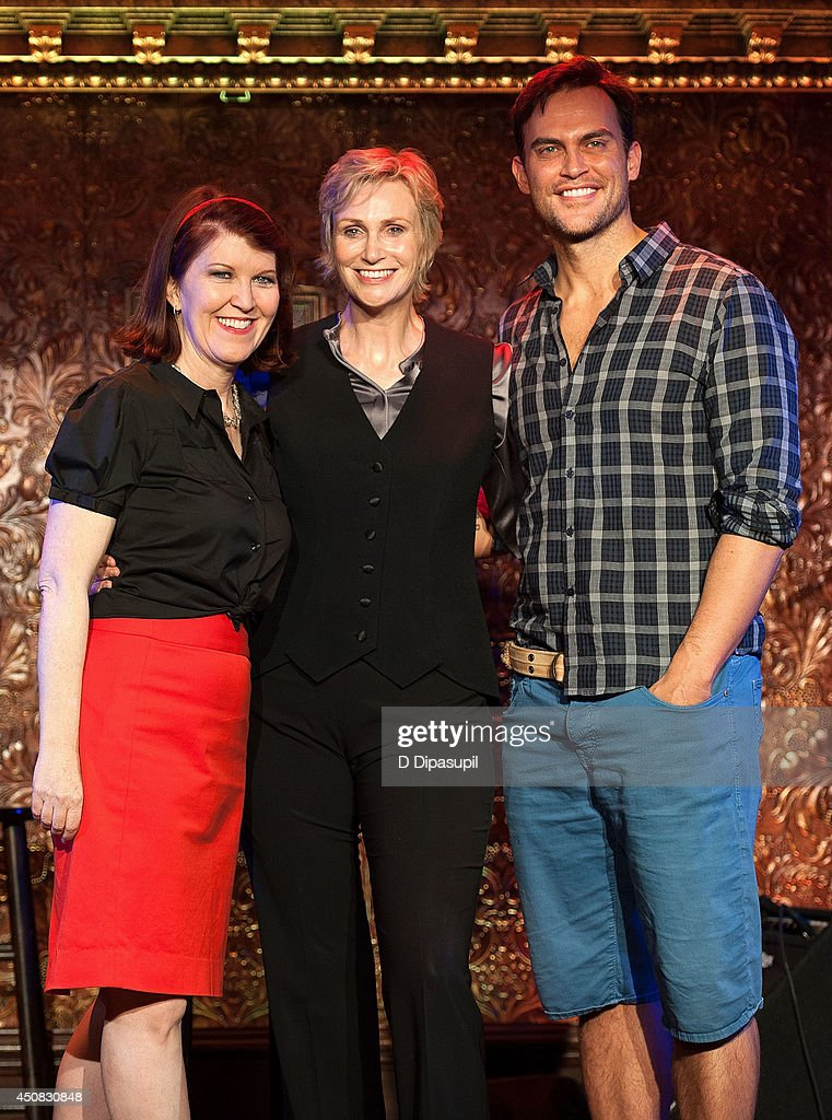 Kate Flannery Jane Lynch and Cheyenne Jackson perform at 54 Below on June 18 2014 in New York City