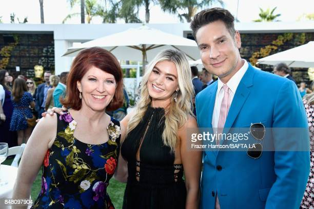 Kate Flannery Sloane Glass and Cameron Silver attend the BBC America BAFTA Los Angeles TV Tea Party 2017 at The Beverly Hilton Hotel on September 16...
