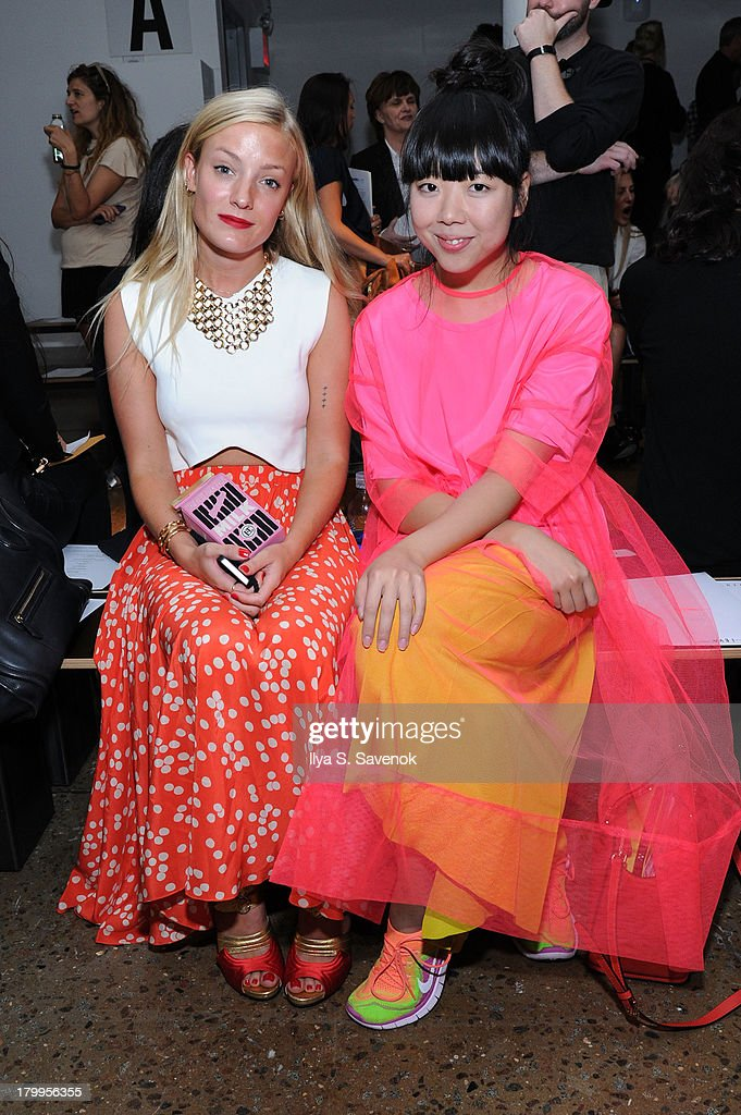 Kate Foley and Susie Bubble attend the Louise Goldin fashion show during MADE Fashion Week Spring 2014 at Milk Studios on September 7, 2013 in New York City.