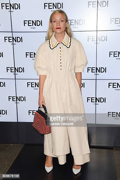 Kate Foley attends the Fendi show during Milan Fashion Week Spring/Summer 2017 on September 22 2016 in Milan Italy