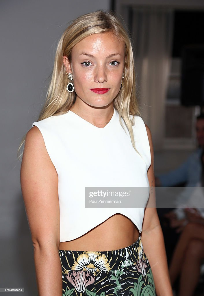 Kate Foley attends the Organic By John Patrick show during Spring 2014 Mercedes-Benz Fashion Week on September 4, 2013 in New York City.