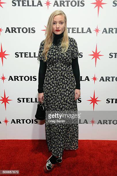 Kate Foley attends the unveiling of 'Stars' by Stella Artois where John Legend performed a new holiday song written exclusively for Stella Artois...