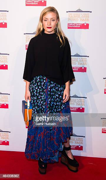 Kate Foley attends The World's First Fabulous Fund Fair in aid of The Naked Heart Foundation at The Roundhouse on February 24 2015 in London England