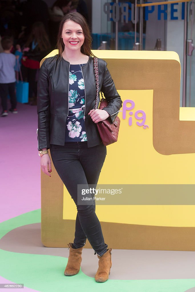 Kate Ford attends the UK premiere of 'Peppa Pig: The Golden Boots' at Odeon Leicester Square. on February 1, 2015 in London, England.