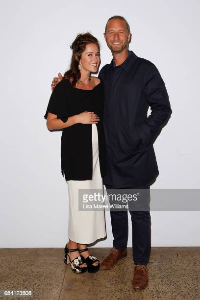 Kate Fowler and Justin Hemmes arrives ahead of the Ellery X Etihad Airways event at MercedesBenz Fashion Week Resort 18 Collections at The Elston...