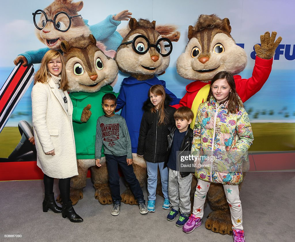 <a gi-track='captionPersonalityLinkClicked' href=/galleries/search?phrase=Kate+Garraway&family=editorial&specificpeople=585575 ng-click='$event.stopPropagation()'>Kate Garraway</a> and children attend a Gala Screening of 'Alvin & The Chipmunks: The Road Chip' at Vue West End on February 7, 2016 in London, England.