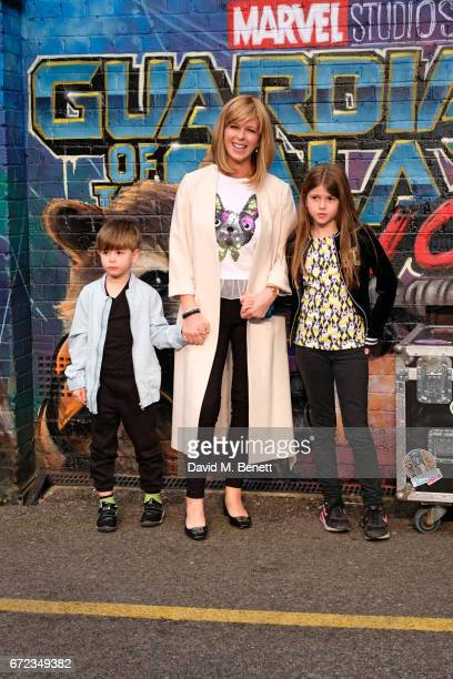 Kate Garraway and family attend the European Gala screening of 'Guardians of the Galaxy Vol 2' at the Eventim Apollo on April 24 2017 in London...