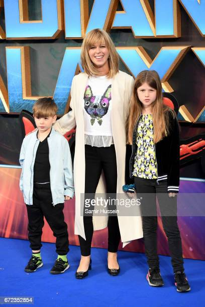 Kate Garraway and family attend the UK screening of 'Guardians of the Galaxy Vol 2' at Eventim Apollo on April 24 2017 in London United Kingdom