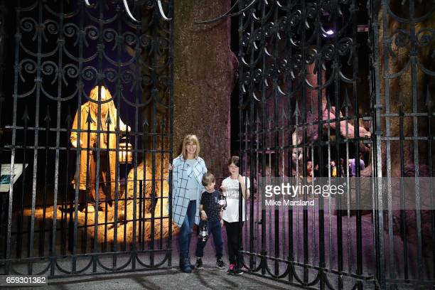 Kate Garraway and guests attend the exclusive launch event for the Forbidden Forest a new expansion at Warner Bros Studio Tour London The Making of...