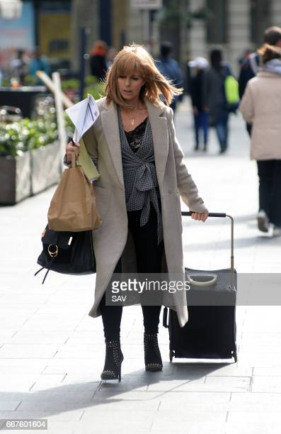 Kate Garraway arrives at Global House on April 12 2017 in London England