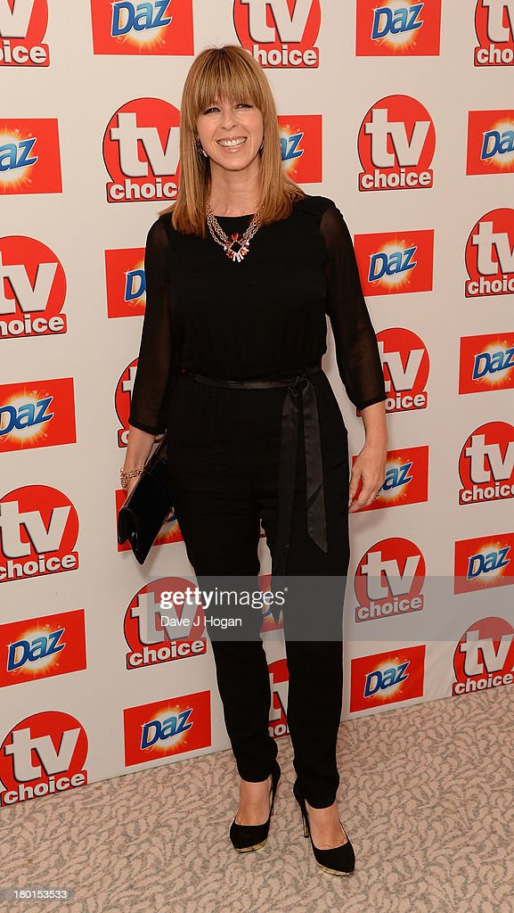 <a gi-track='captionPersonalityLinkClicked' href=/galleries/search?phrase=Kate+Garraway&family=editorial&specificpeople=585575 ng-click='$event.stopPropagation()'>Kate Garraway</a> attends the TV Choice Awards 2013 at The Dorchester on September 9, 2013 in London, England.