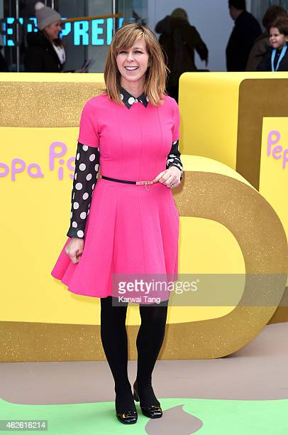 Kate Garraway attends the UK premiere of 'Peppa Pig The Golden Boots' at Odeon Leicester Square on February 1 2015 in London England