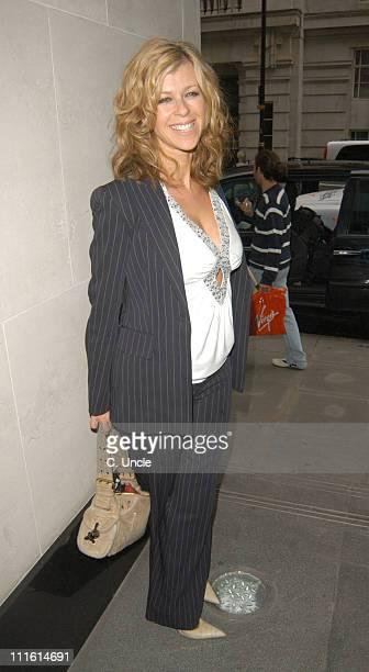 Kate Garraway during 2005 Shafta Awards Arrivals at Cumberland Hotel in London Great Britain