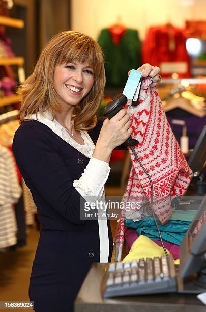 Kate Garraway poses at a photocall to launch the 'Celebrities on Tills' initiative in her role as Ambassador for the Make A Wish foundation ahead of...