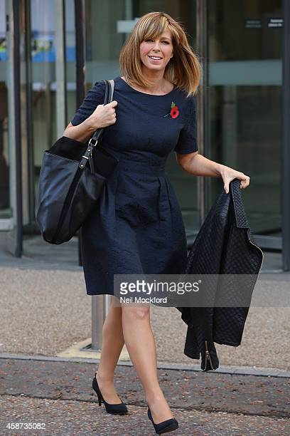 Kate Garraway seen leaving the ITV Studios after hosting Good Morning Britain on November 10 2014 in London England