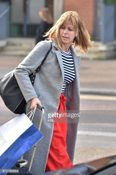 Kate Garraway seen outside the ITV Studios on April 24 2017 in London England