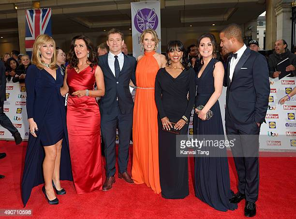 Kate Garraway Susanna Reid Ben Shephard Charlotte Hawkins Ranvir Singh Laura Tobin and Sean Fletcher attend the Pride of Britain awards at The...