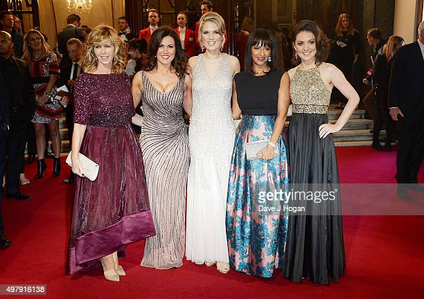 Kate Garrawy Susanna Reid Charlotte Hawkins Ranvir Singh and Laura Tobin attend the ITV Gala at London Palladium on November 19 2015 in London England
