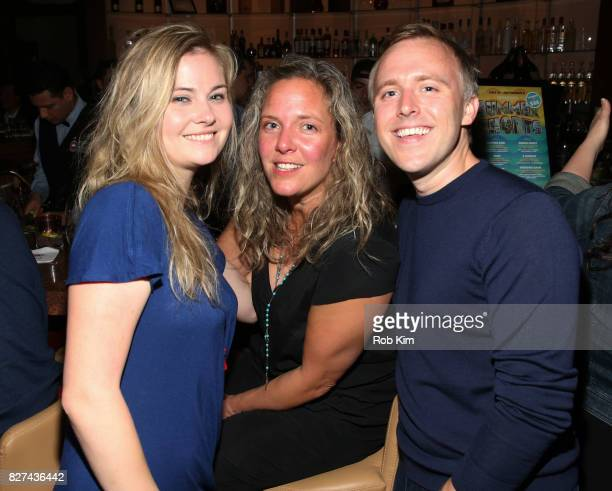 Kate German and guests attend the OffBroadway opening night party for 'SUMMER SHORTS 2017' at Fogo de Chao Churrascaria on August 7 2017 in New York...