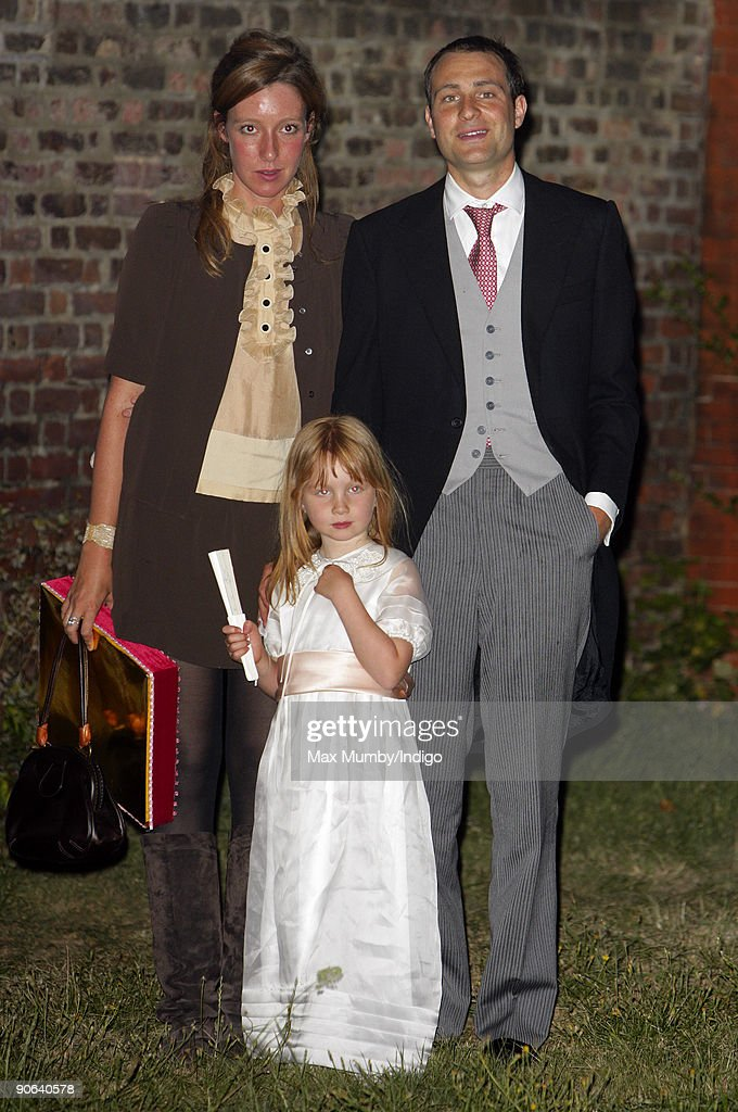 Kate Goldsmith Ben Goldsmith and Iris Goldsmith arrive at the home of Lady Annabel Goldsmith for an evening reception after attending the wedding of...