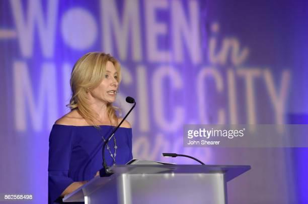 Kate Herman President and Publisher of Nashville Business Journal Women in Music City speaks onstage at the 2017 Nashville Business Journal Women In...
