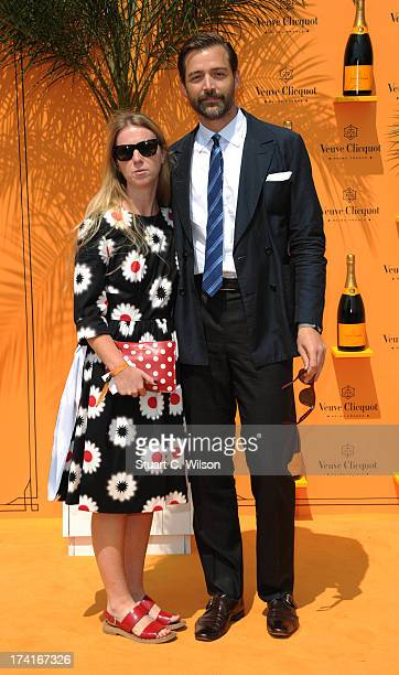 Kate Hillier and Patrick Grant attend the Veuve Clicquot Gold Cup final at Cowdray Park Polo Club on July 21 2013 in Midhurst England