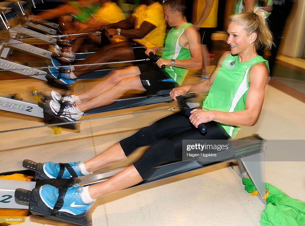 <a gi-track='captionPersonalityLinkClicked' href=/galleries/search?phrase=Kate+Hollywood&family=editorial&specificpeople=730459 ng-click='$event.stopPropagation()'>Kate Hollywood</a> of Australia competes in the rowing leg of the ANZA Challenge on October 15, 2013 in Wellington, New Zealand.