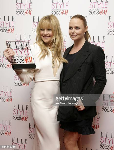 Kate Hudson accompanied by Stella McCartney with the award for ELLE Style Icon at the ELLE Style Awards 2008 The Westway off Latimer Road W10