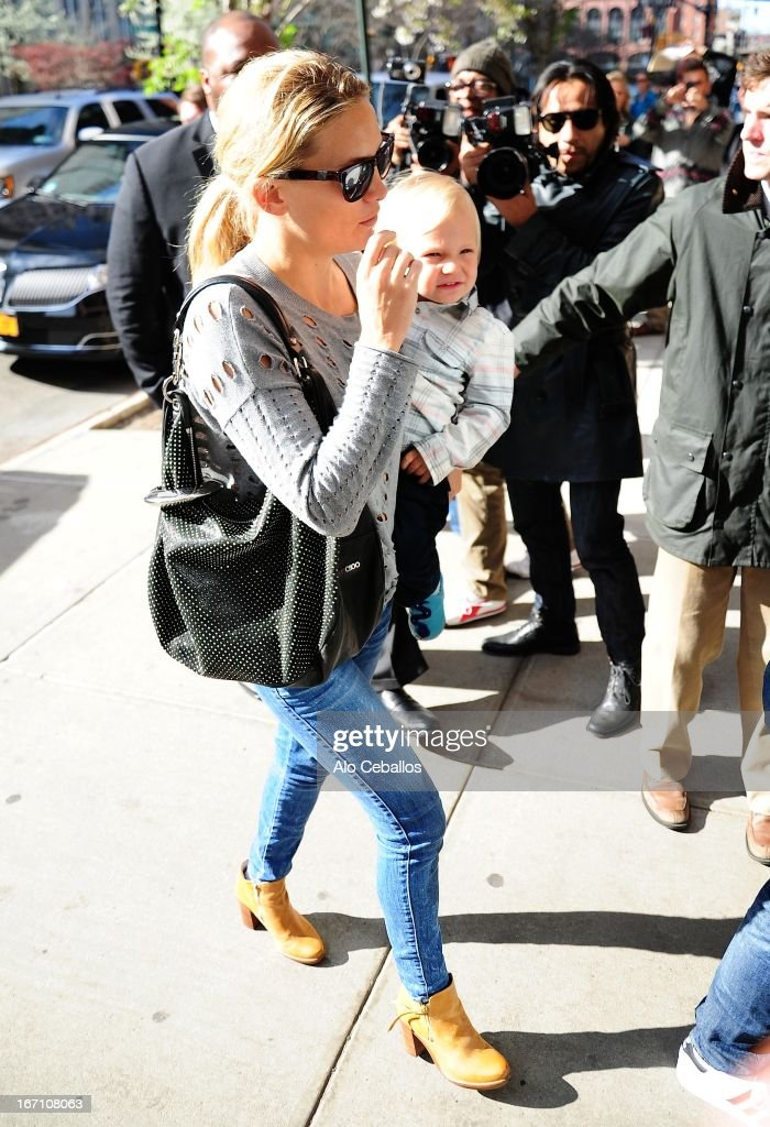 Kate Hudson and Bingham Hawn Bellamy are seen in Tribeca on April 20, 2013 in New York City.