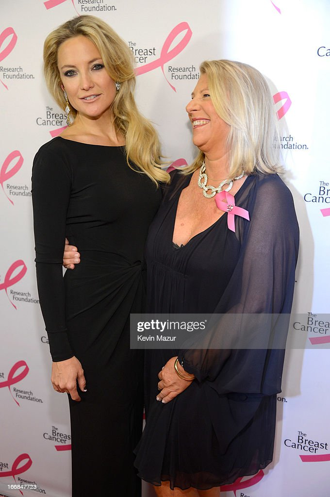 <a gi-track='captionPersonalityLinkClicked' href=/galleries/search?phrase=Kate+Hudson&family=editorial&specificpeople=156407 ng-click='$event.stopPropagation()'>Kate Hudson</a> and CEO of Ann Taylor Kay Krill attend the Breast Cancer Foundation's Hot Pink Party at the Waldorf Astoria Hotel on April 17, 2013 in New York City.
