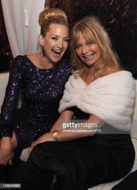 Kate Hudson and Goldie Hawn attend the Bloomberg Vanity Fair cocktail reception following the 2012 White House Correspondents' Association Dinner at...