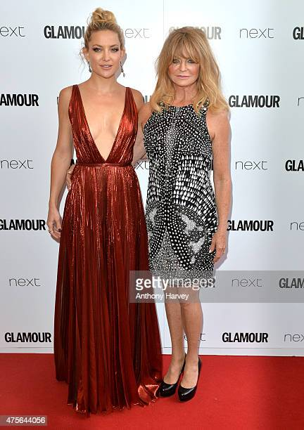 Kate Hudson and Goldie Hawn attend the Glamour Women Of The Year Awards at Berkeley Square Gardens on June 2 2015 in London England