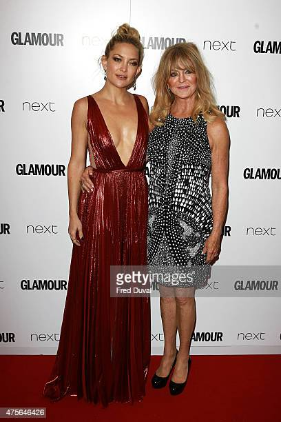 Kate Hudson and Goldie Hawn attend the Glamour Women of the Year Awards on June 2 2015 in London England
