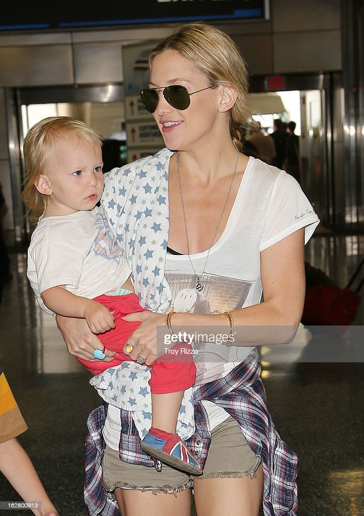 <a gi-track='captionPersonalityLinkClicked' href=/galleries/search?phrase=Kate+Hudson&family=editorial&specificpeople=156407 ng-click='$event.stopPropagation()'>Kate Hudson</a> and her son Bingham Hawn Bellamy are sighted at Miami International Airport on February 27, 2013 in Miami, Florida.