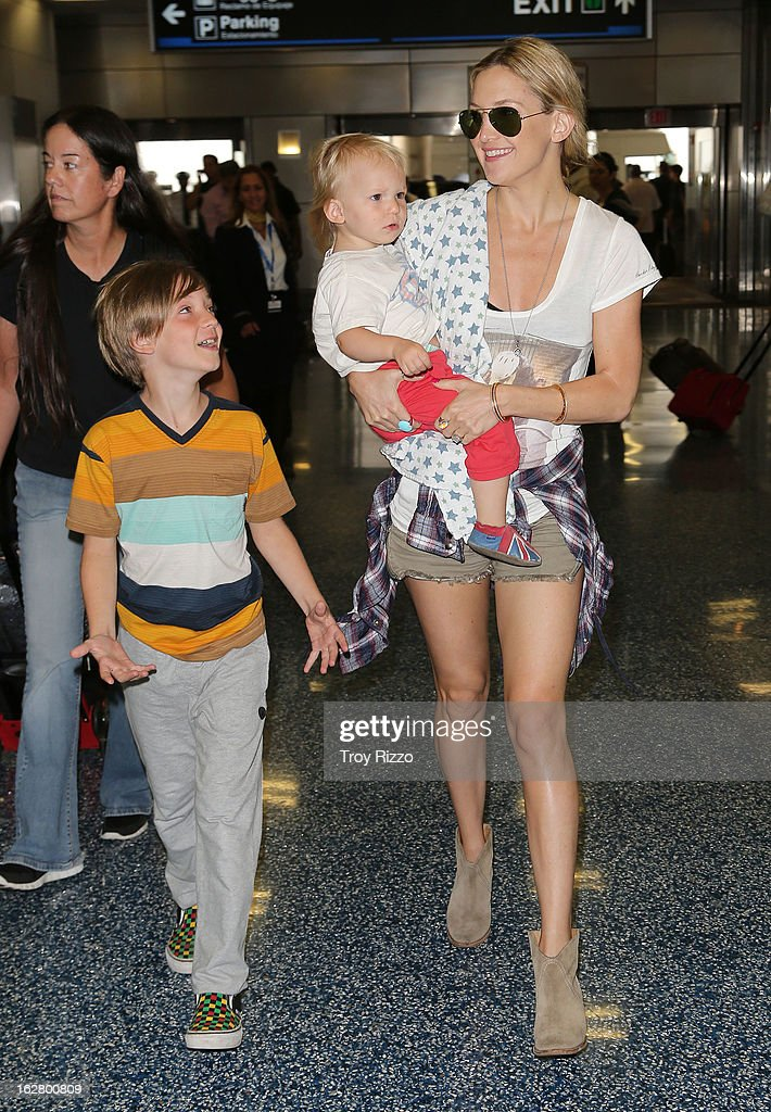 <a gi-track='captionPersonalityLinkClicked' href=/galleries/search?phrase=Kate+Hudson&family=editorial&specificpeople=156407 ng-click='$event.stopPropagation()'>Kate Hudson</a>, and her sons, Bingham Hawn Bellamy and <a gi-track='captionPersonalityLinkClicked' href=/galleries/search?phrase=Ryder+Robinson&family=editorial&specificpeople=3973558 ng-click='$event.stopPropagation()'>Ryder Robinson</a> are sighted at Miami International Airport on February 27, 2013 in Miami, Florida.