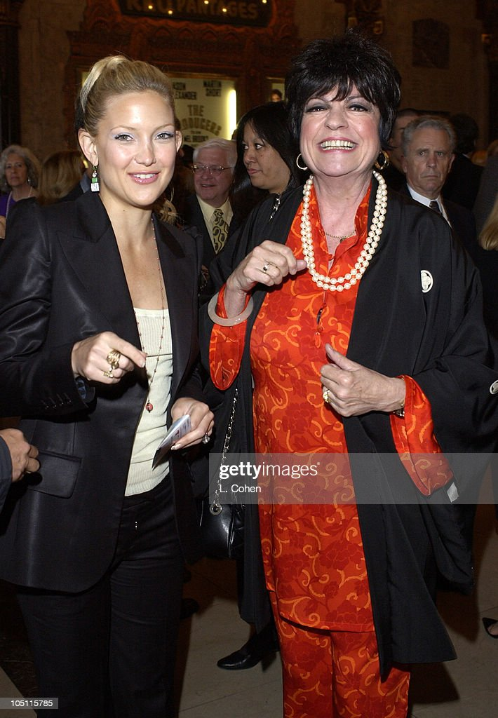 Kate Hudson and Jo Anne Worley during Opening Night of 'The Producers' Red Carpet at Pantages Theatre in Hollywood California United States